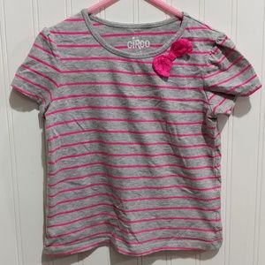 Circo Pink Stripped Shirt with Bow